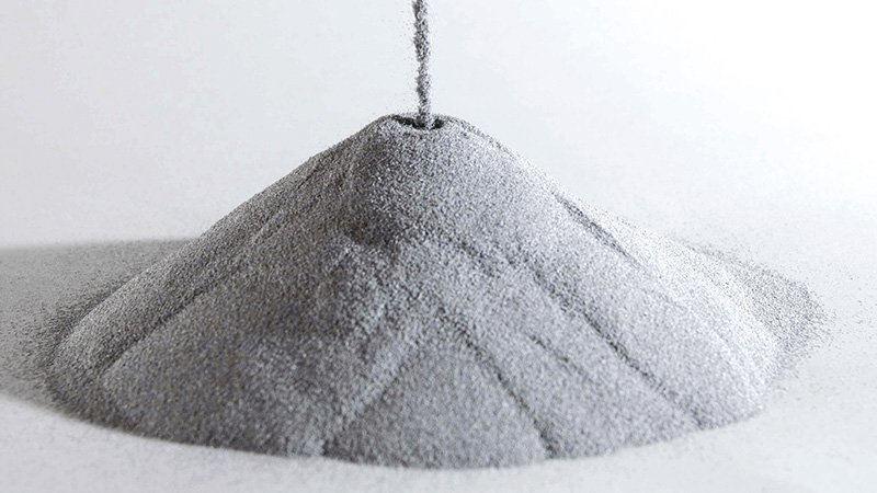 Metal powder produced for additive manufacturing my LPW Technology. Photo via @LPWTechnology on Twitter