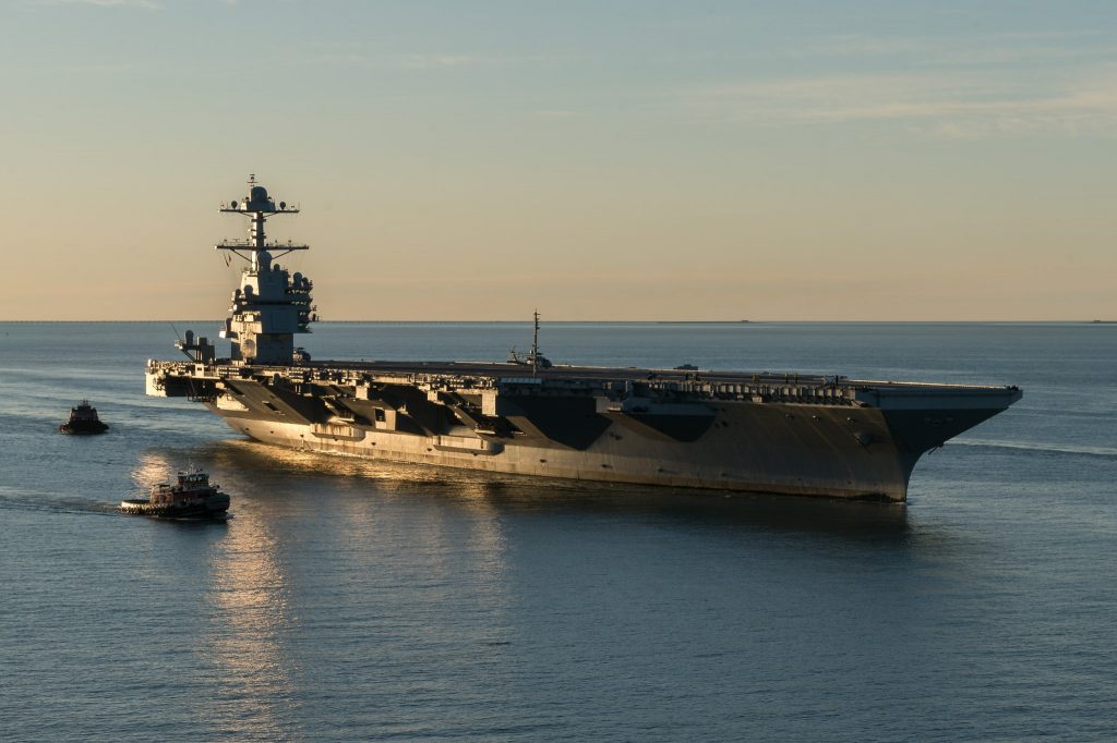 The USS Gerald R. Ford. Image via the U.S Navy.