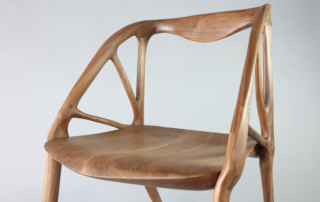 The Elbo chair was created using project dreamcatcher, wood and a CNC router. Image via Autodesk.