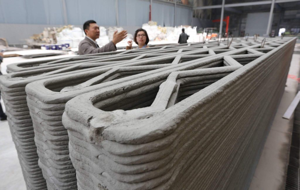 3D printing technology is already being used to 3D print houses in Shanghai. Photo via WinSun.