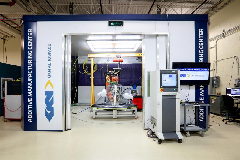 GKN Aerospace's Additive Manufacturing Centre powered by LMD-w technology.Photo via Aviation Week.