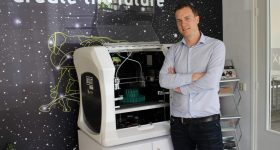Sander Adam, CEO of Leapfrog 3D Printers