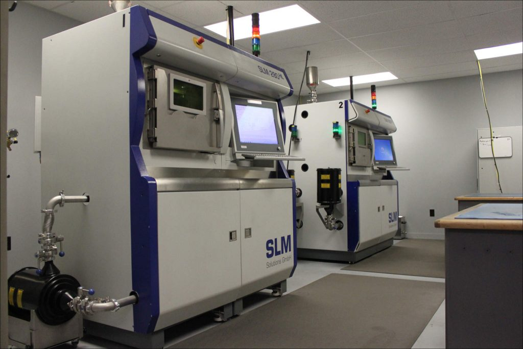 Imperial's metal additive manufacturing machines, both SLM 280 HL systems.