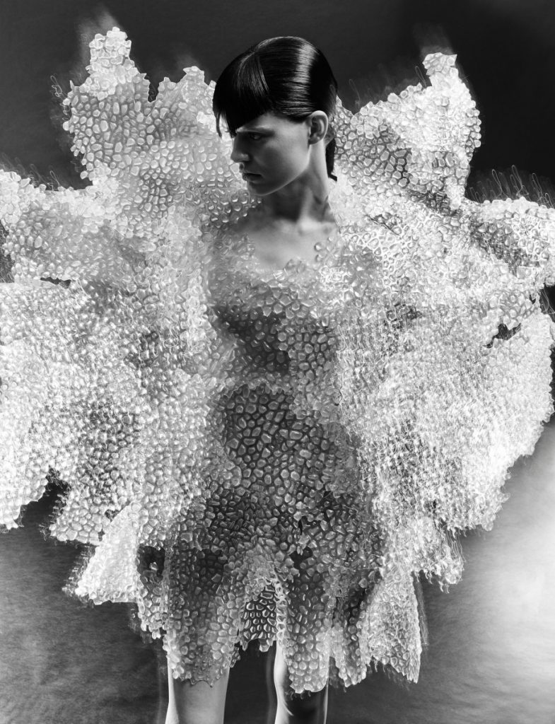 Iris Van Herpen Between the Lines 3D printed couture fashion design. Editioral by Warren du Preez and Nick Thornton Jones