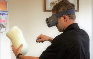 Using VR to create custom medical devices. Photo via Orthotics and Prosthetics.