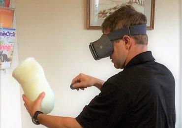 Using VR to create custom medical devices. Photo via Orthotics and Prosthetics.