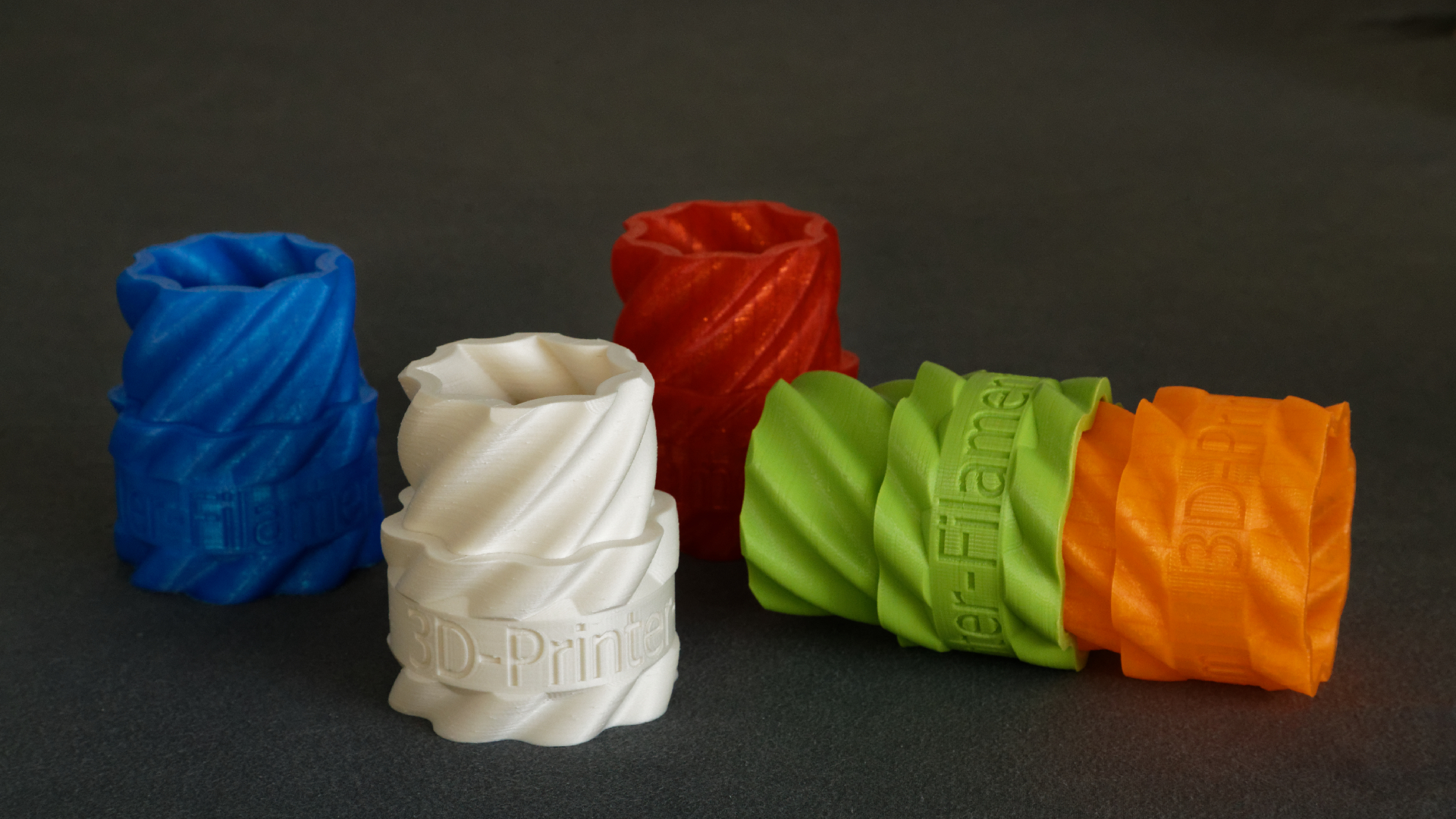The range of colors offered. Photo via A1 Filament.