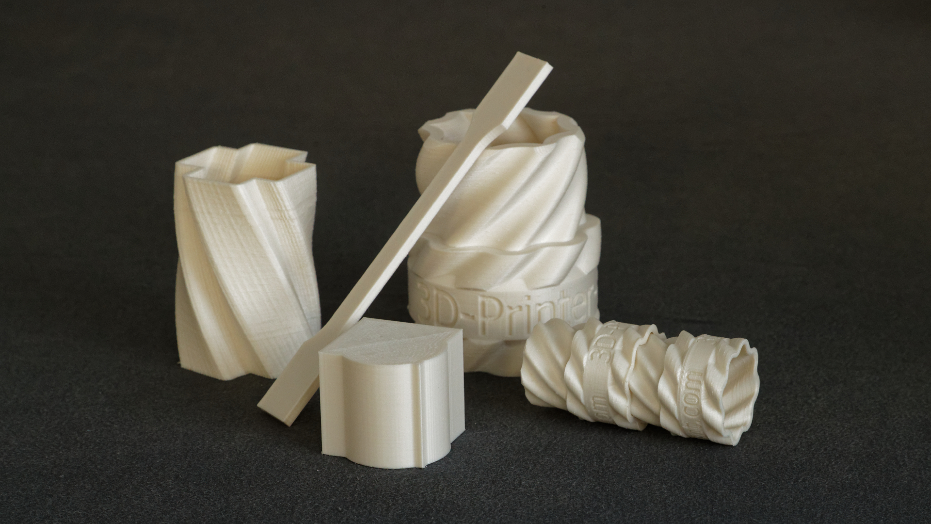The complex and clean models produced by A1 Filament.