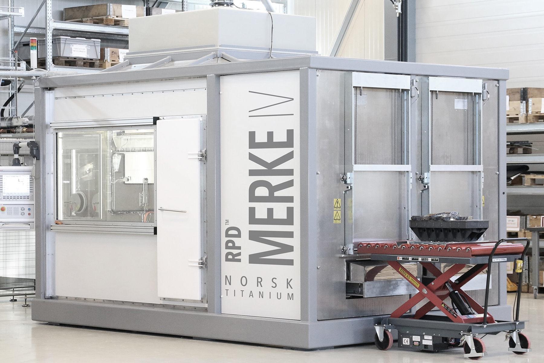 An installed Merke-IV machine. Photo via Norsk Titanium.
