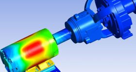 Digital simulation of a motor pump overload using ANSYS/Thingworx integration. Image via ansys.com