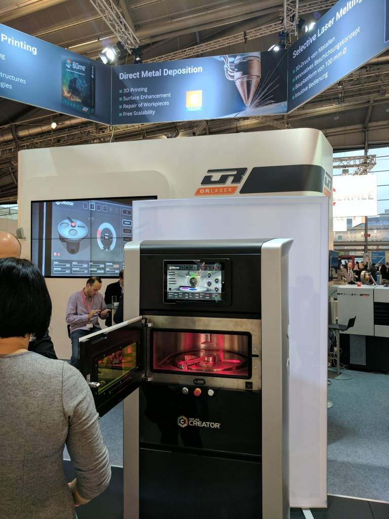 The Orlas Creator metal 3D printer as Formnext 2016. Photo by Michael Petch