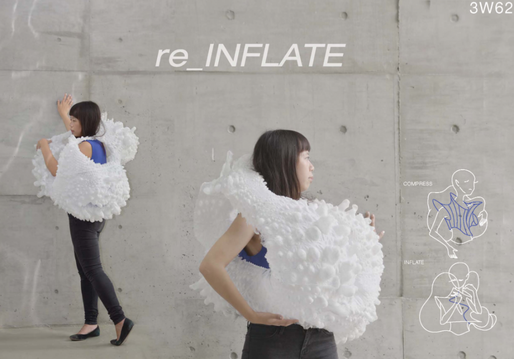 The re_INFLATE 3D printed jacket concept from RESHAPE 15 second edition. Image viayoureshape.io/reshape15-re_infate/
