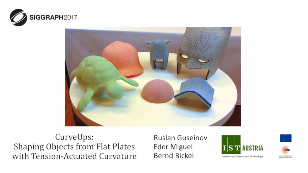 A sample of 3D objects realized by IST Austria's CurveUP technology. Screenshot via Ruslan Guseinov on YouTube