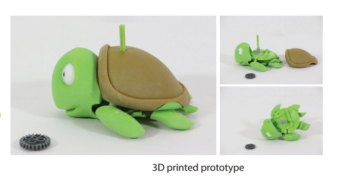 The resulting 3D printed prototype. Image via IST Austria.