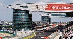 The Shanghai International Circuit for F1 and MotoGP races, at the center of the Shanghai International Automobile City. Photo by Emily Walker, jemsweb on Flickr.
