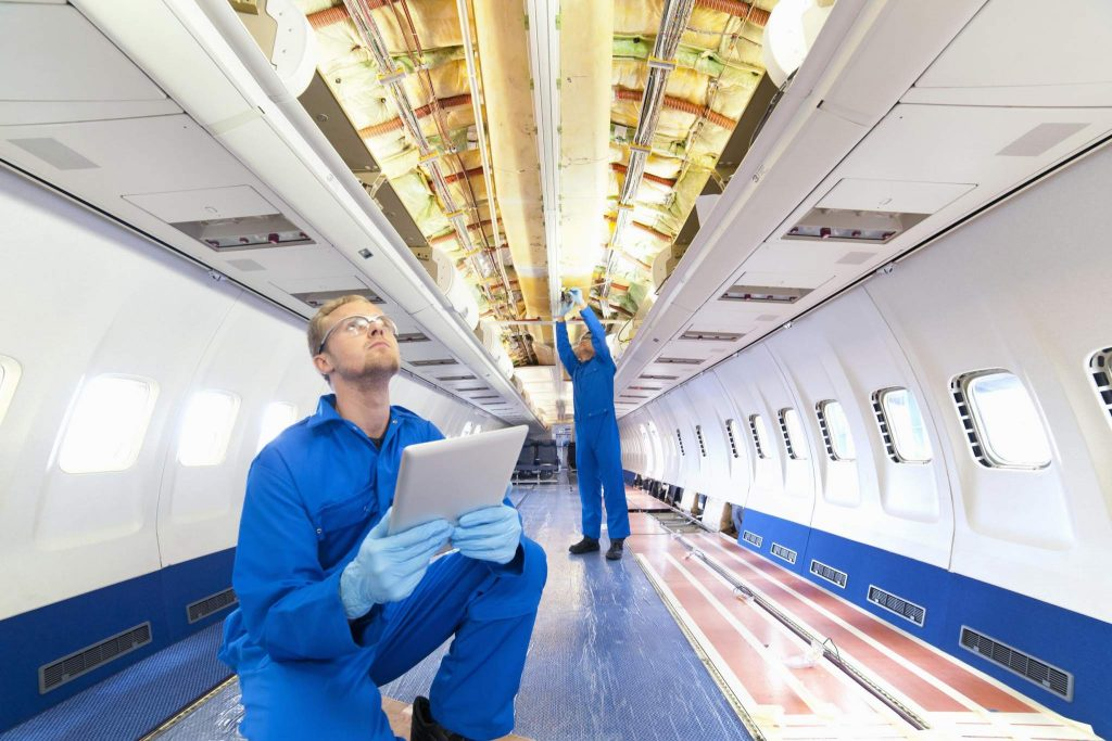 Airlines need to maintain enormous inventories for aircraft parts to keep their fleets in the air. Using 3D printing for on-demand manufacturing is a promising alternative. (Photo courtesy of Stratasys).