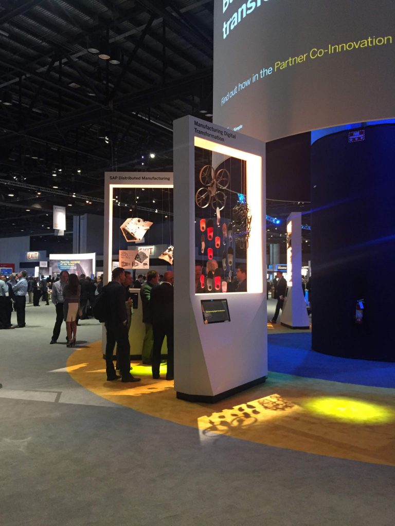 The Manufacturing Digital Transformation display featuring the SAP and LEO Lane integration at SAPPHIRE 2017