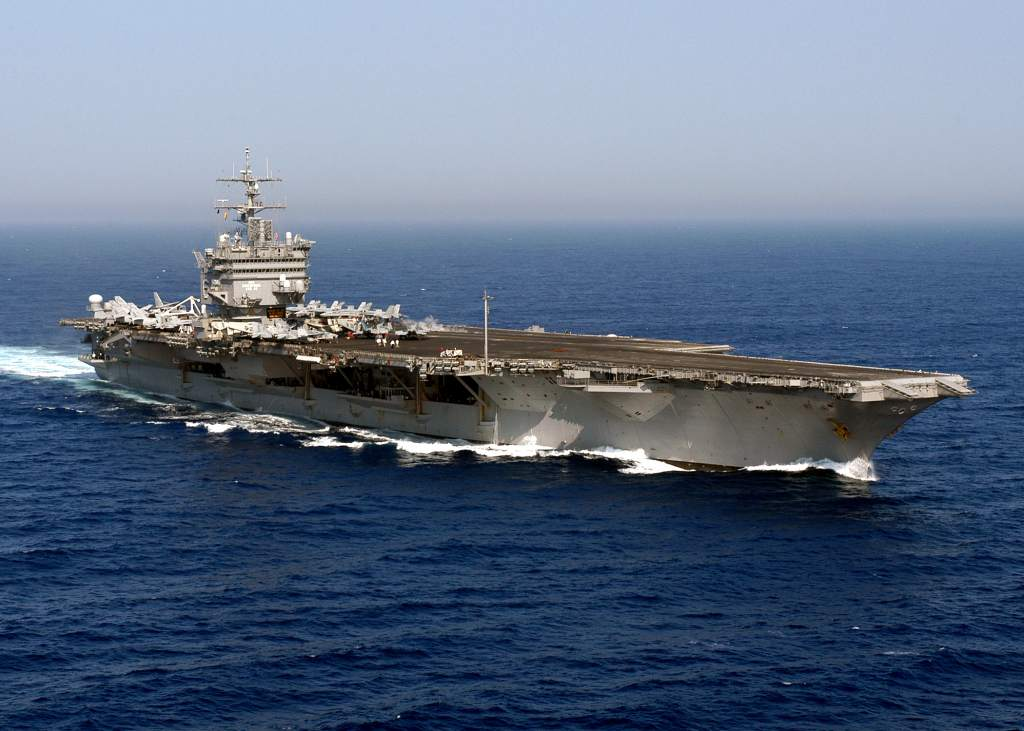 The USS Enterprise aircraft carrier. Photo by U.S. Navy, released by LT K.R. Stephens, PAO CVN 65.