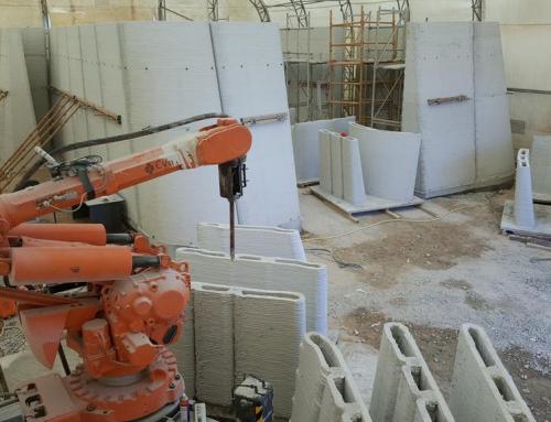 CyBe Construction 3D prints concrete drone laboratory on-site in Dubai