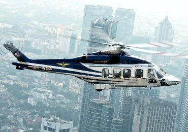 A Leonardo Helicopters AW189 model that can now be installed with a turbine containing a 3D printed nozzle. Photo via Weststar Aviation Malaysia.