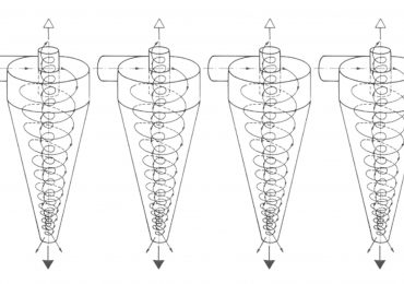 Diagram showing the inner workings of hydrocyclonic filters. Original image via scielo.br