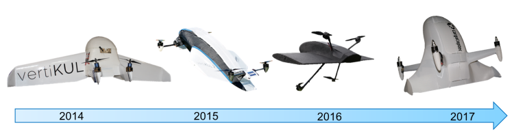 The design changes of device. Photo via Bart Theys/Cargocopter.