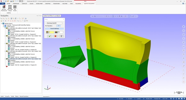 Snapshot of the LSAM Print3D software. Image via Thermwood