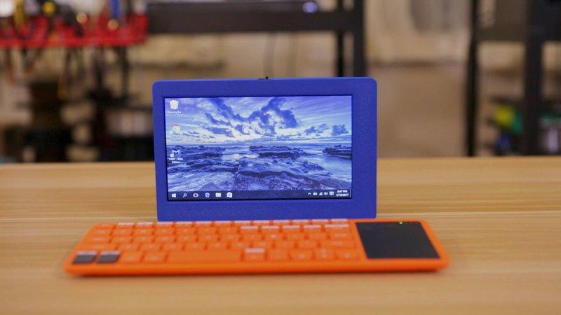 The Ruiz Brothers' 3D printed Mini PC. Photo via Adafruit