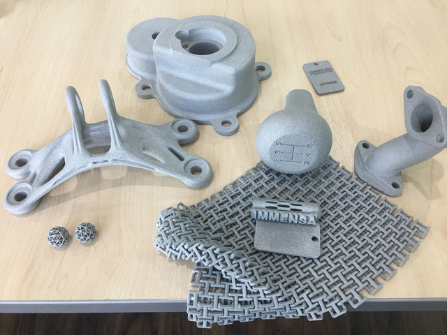 SLS parts produced by Immensa Labs. Photo via Emirates 24/7.