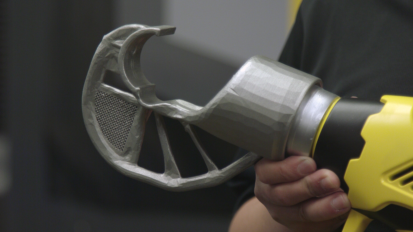 Stanley Black & Decker's results of using Autodesk's generative design tools. Photo via Autodesk.