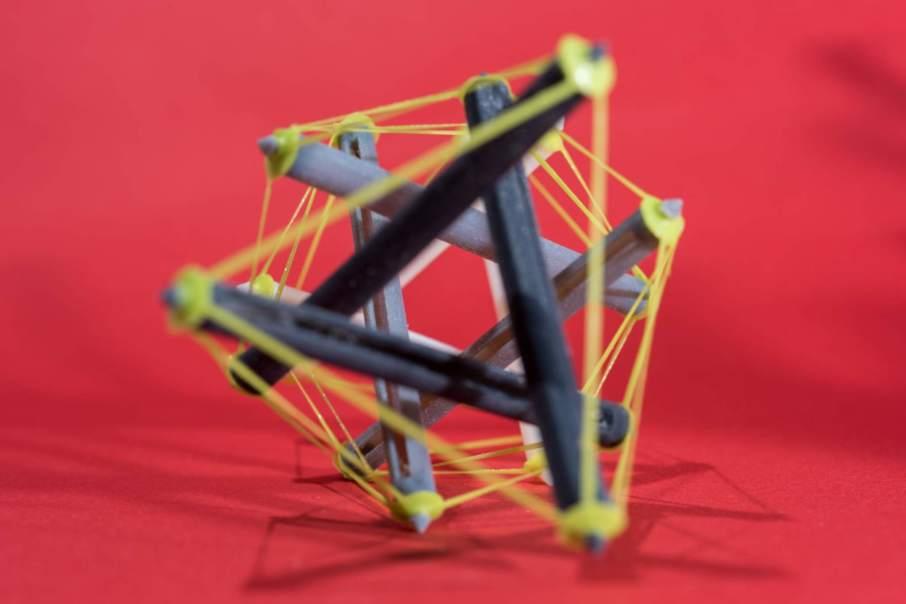 One of the tensegrity designs Photo via Rob Felt/Georgia Tech.