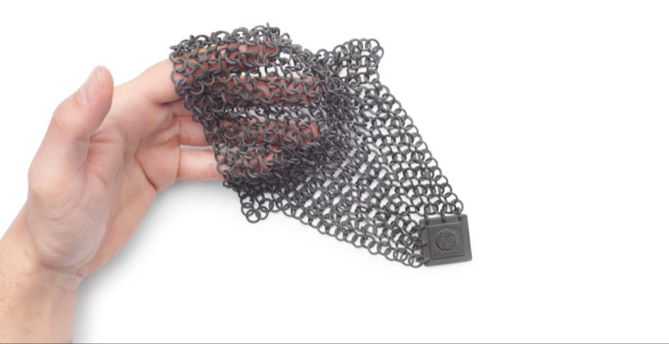 Example 3D print using HP Multi Jet Fusion. Image via Sculpteo.