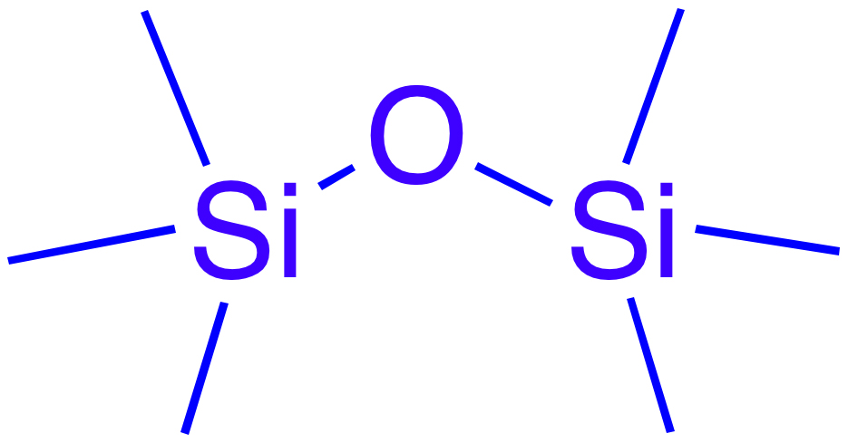 Enter siloxane - the base ingredient of silicone. Molecular arrangement image via Wikimedia Commons contributor Smokefoot