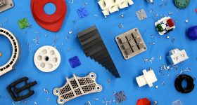 Array of on-demand parts created by Xometry. Image via Xometry.