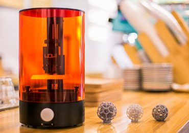 The sub $100 SparkMaker desktop SLA 3D printer from WOW! Photo via SparkMaker WOW! on Kickstarter