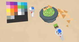 Designing a bowl of guacamole in VR. Image via Google.