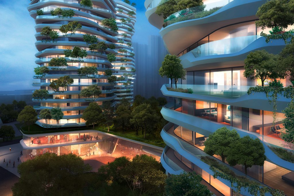 Yancheng Vertical Forest design by Ippolito Fleitz Group. Image via ifgroup.org