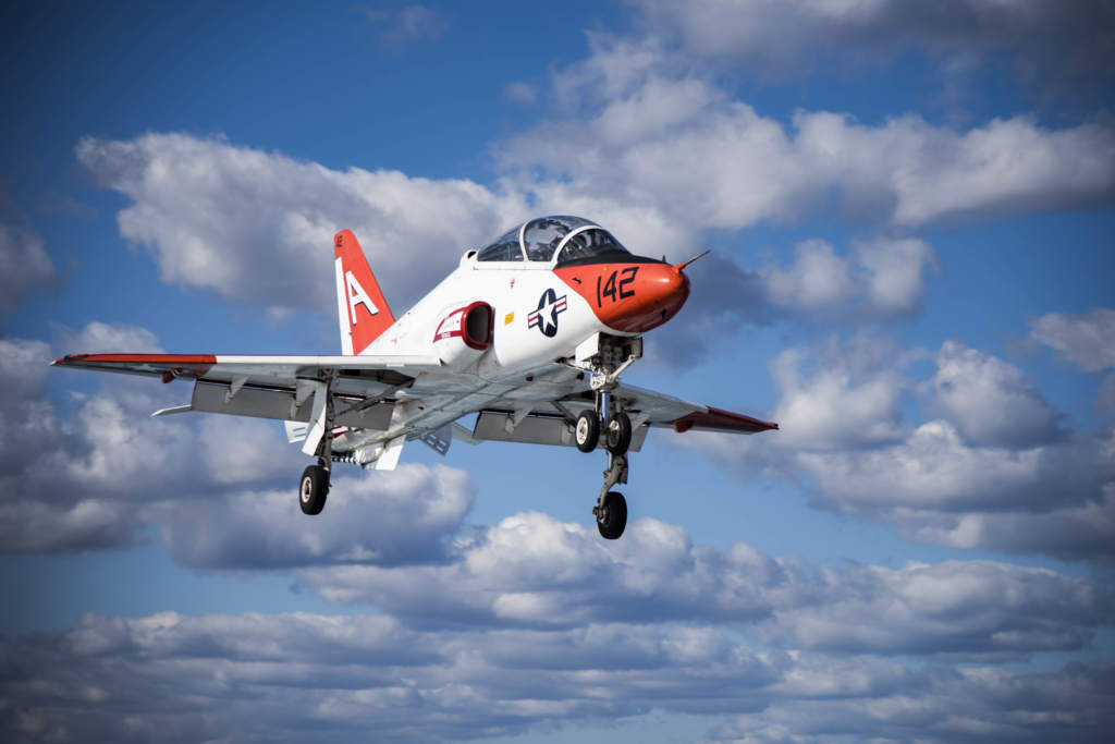 A T-45C Goshawk training aircraft assigned. U.S. Navy photo by Mass Communication Specialist 3rd Class Nathan T. Beard/Released