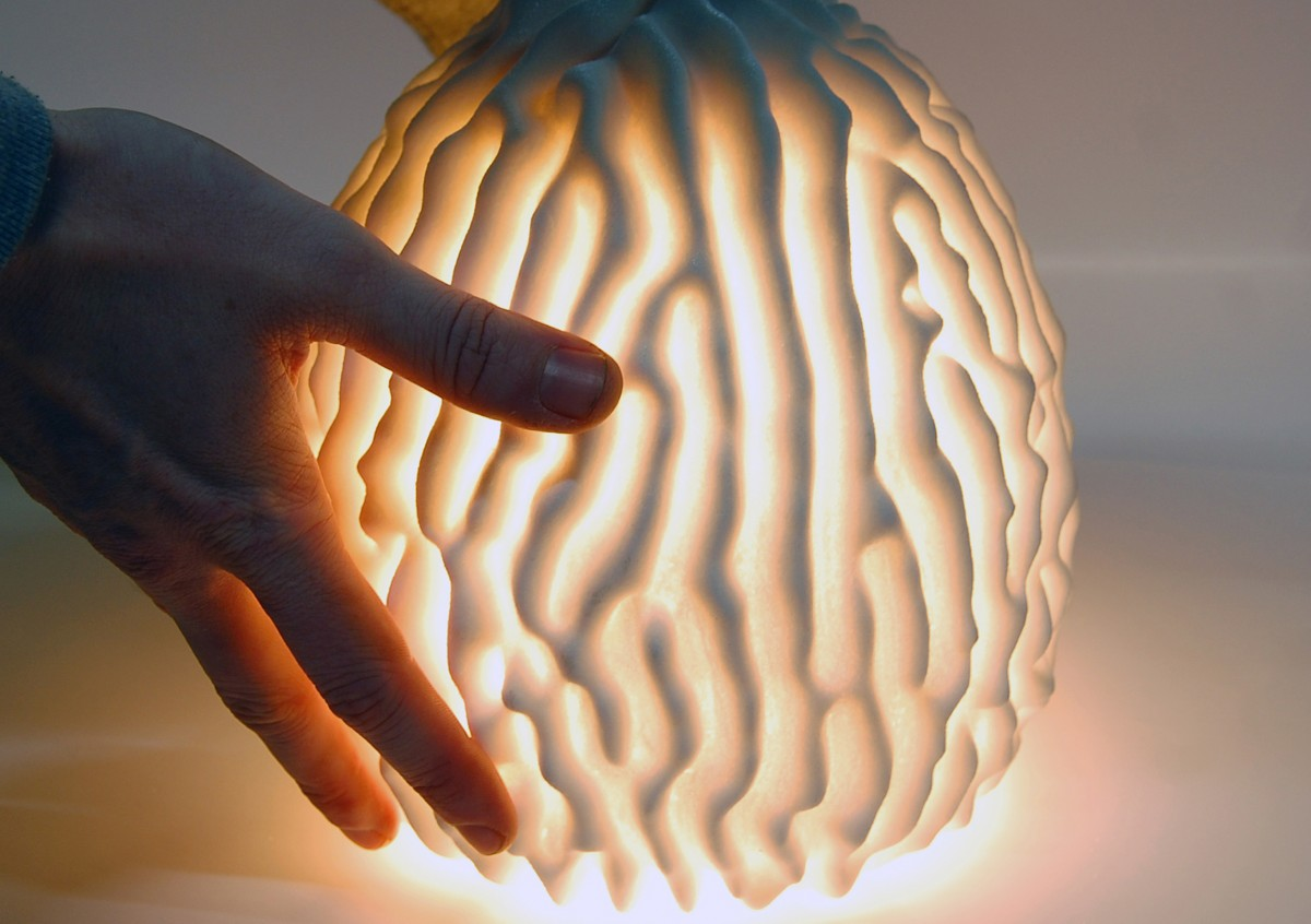 The Salt Coral lamp by CONCR3DE. Image via 3DPC.