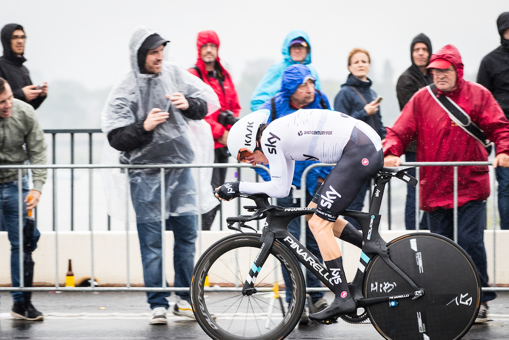 Geriant Thomas during the Dusseldorf time trial. Photo by Leon van Bon.