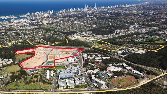 The proposed construction area. Image via Gold Coast Bulletin.