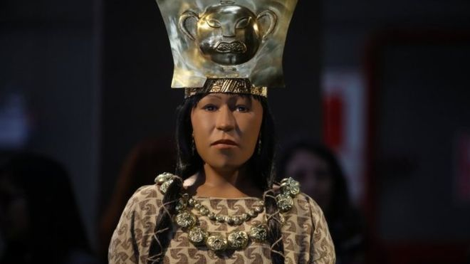 Lady of Cao's 3D printed reconstruction. Image via Reuters.