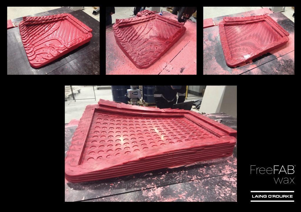 FreeFab wax mold 3D printing. Image via James Gardiner on LinkedIn