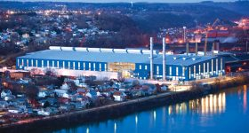 Allegheny Technologies Incorporated's $1.1 billion advanced hot-rolling and processing manufacturing facility located in Allegheny County