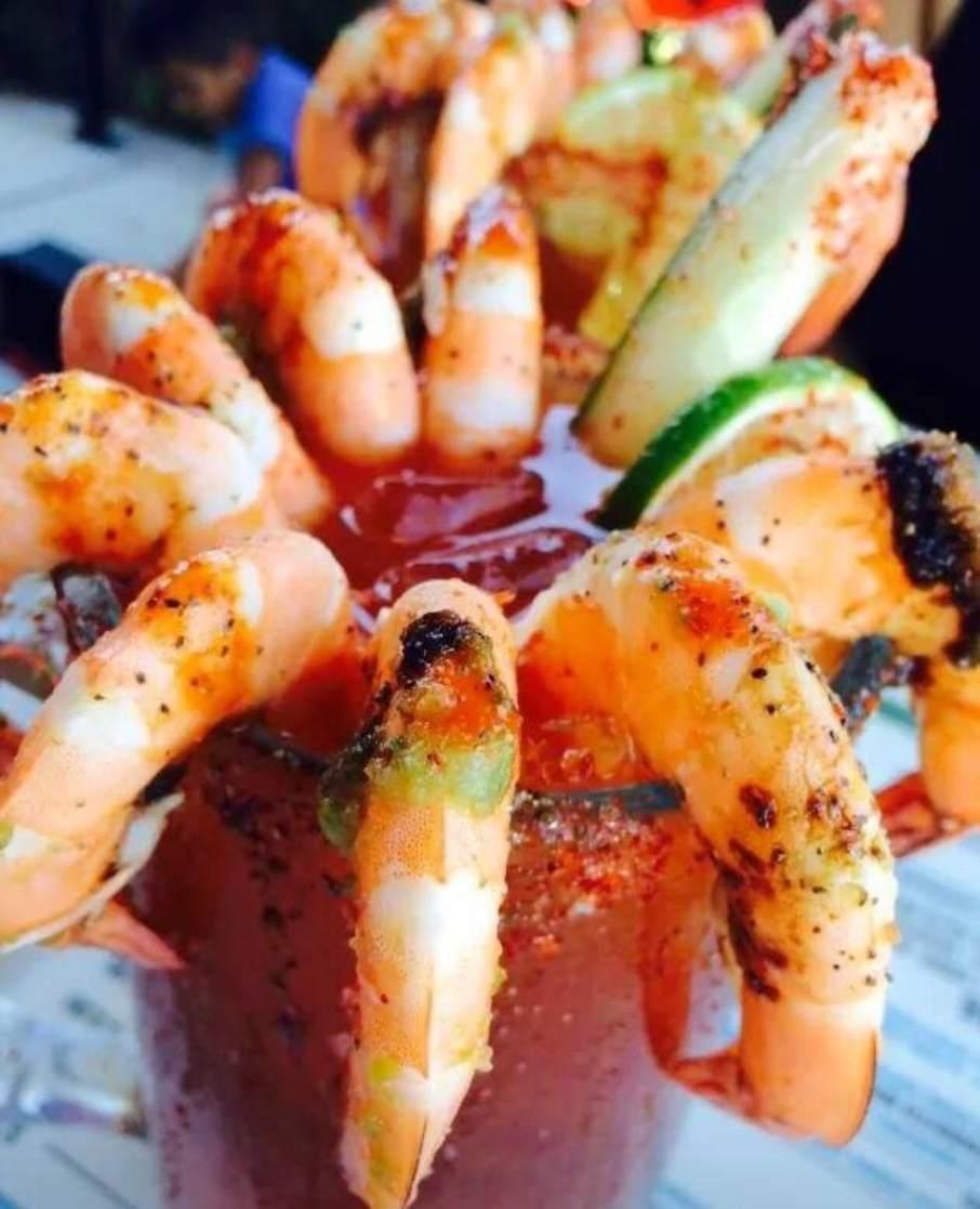 Another self healing method involving shrimp the Michelada con camarones