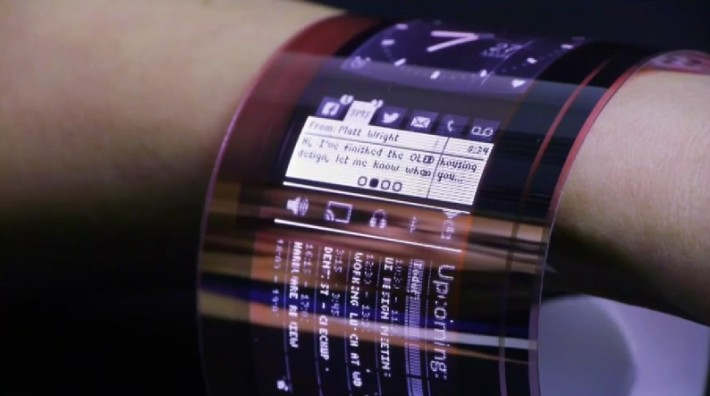 Artists impression of how flexible electronics may look.