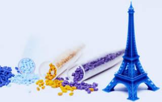A 10cm tall Eiffel Tower 3D printed using Carima C-CAT technology. Photo via Carima.