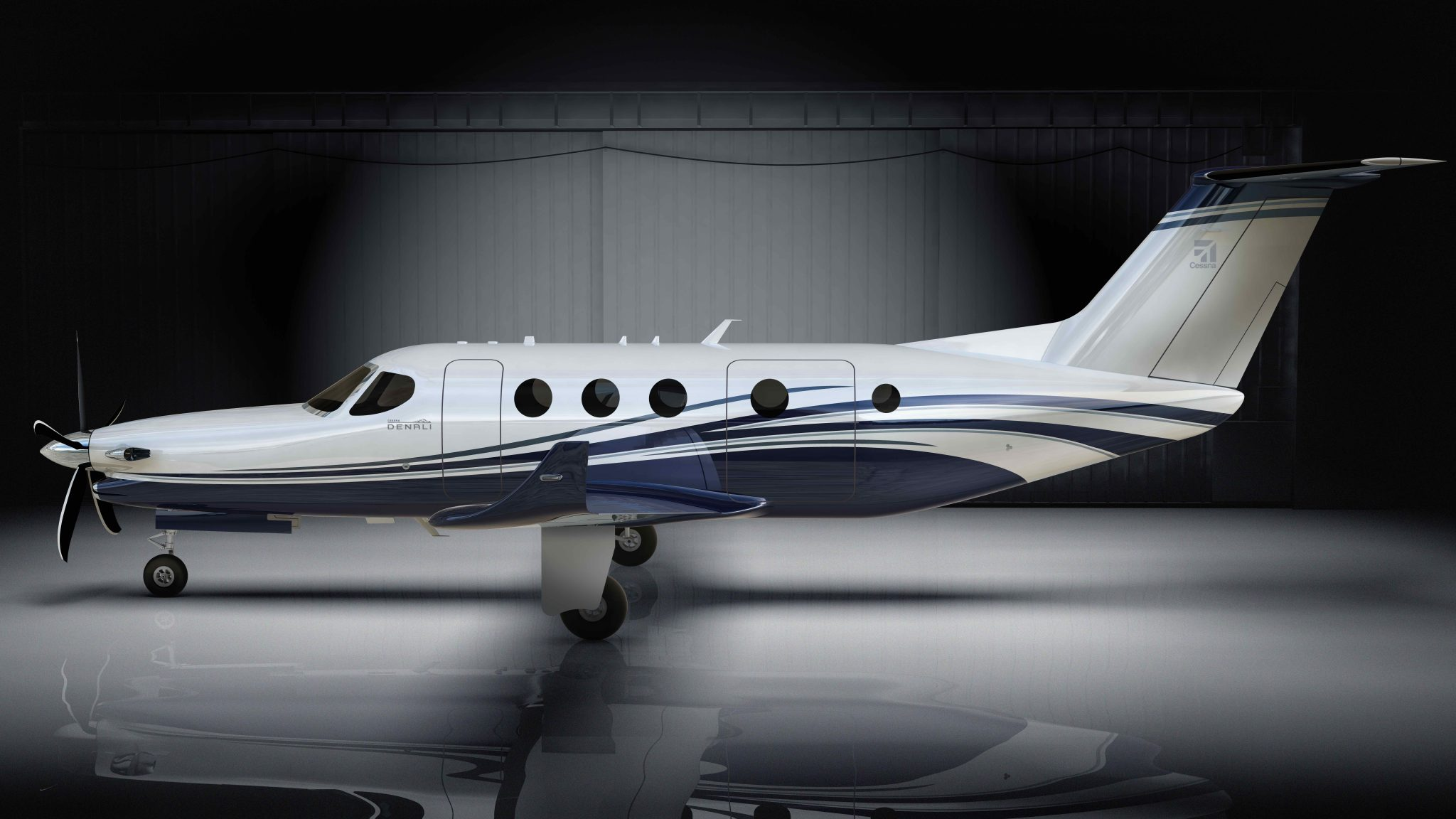 The Cessna Denali aircraft. Image via Textron Aviation.