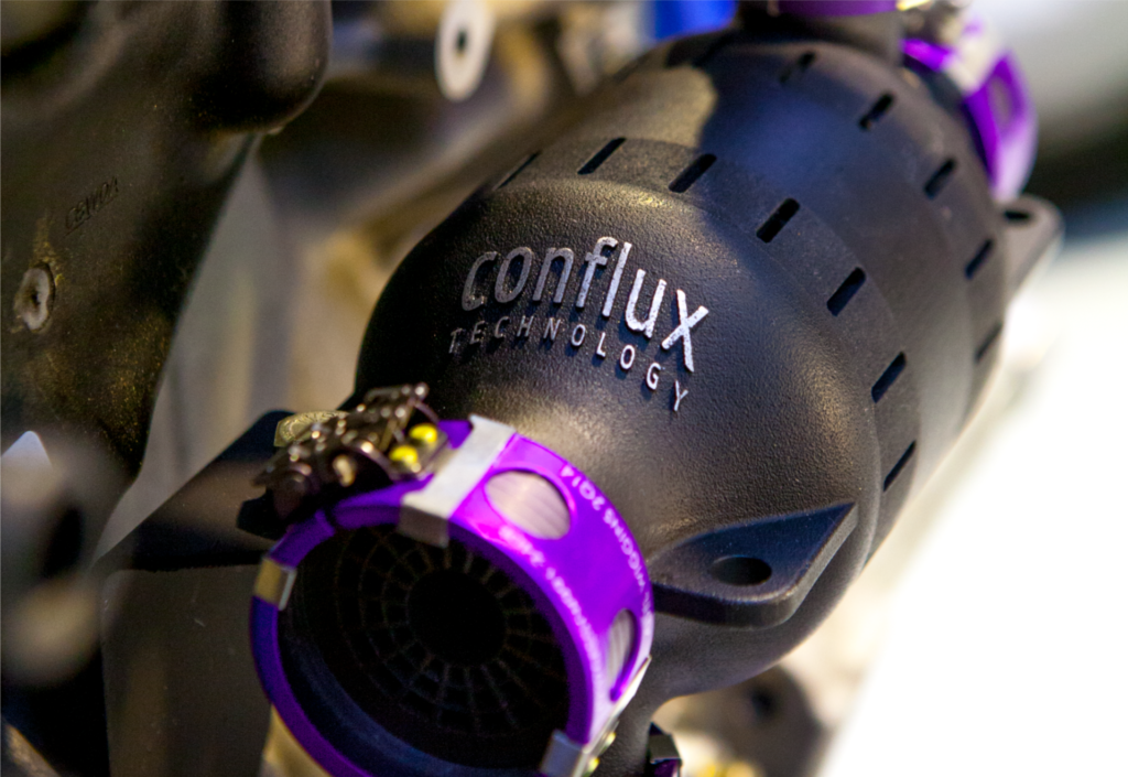 The Conflux Technology Additive Manufactured Conflux CoreTM Heat Exchanger.