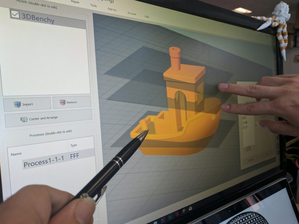 Defining process zones in Simplify3D Version 4.0. Photo by Michael Petch.
